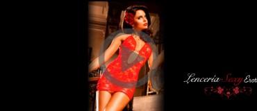 lenceria sexy baci vestido rojo